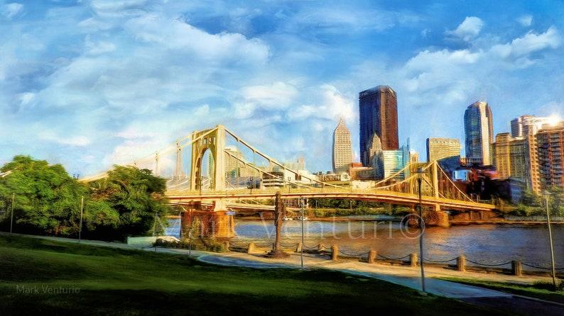 Pittsburgh Andy Warhol Bridge Print Pittsburgh Cityscape, 7th Street Bridge Fine Art Photography Pittsburgh Art Allegheny River