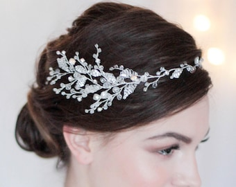Bridal Halo Bridal Headpiece Bridal Headband Bridal Hair Vine Wedding Halo Bridal Wreath Bridal Hairpiece Halo Headpiece Bridal Halo Wedding