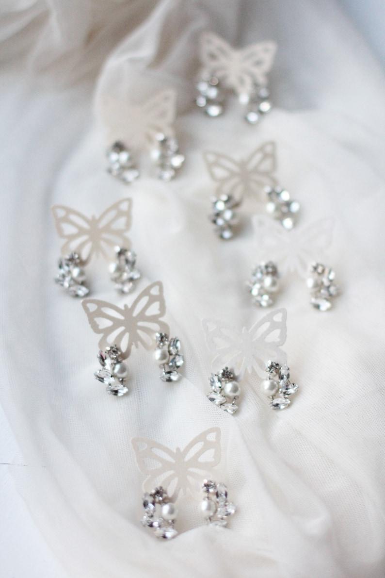 Bridesmaid Gift Set Hair Pins Bracelet Earrings Jewelry Set Bridal Bridesmaid Wedding Hair Accessories Hair Bobby Pins and Stud Earrings Set