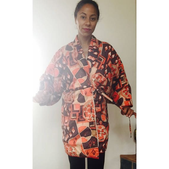 1950s Kimono Silk Robe