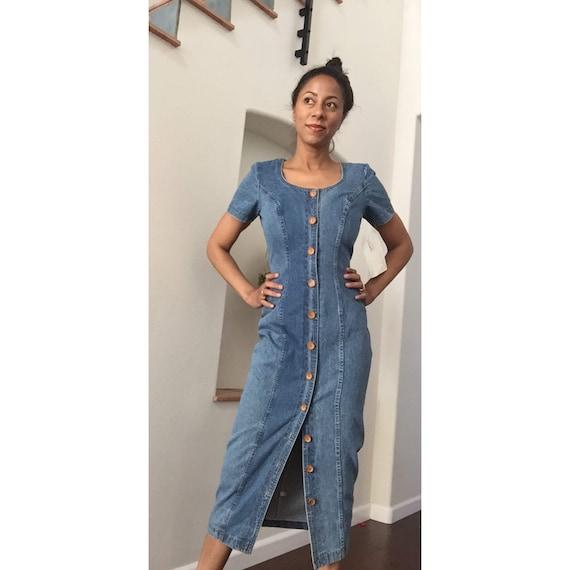 1990s Rampage Vintage Jean Dress