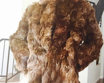 1950s Chocolate Brown Rabbit Fur Coat