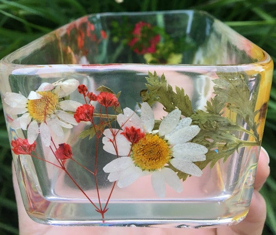 The Flower Pot Rectangle Mixed Variety Flowers Etsy