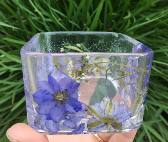 The Flower Pot Square Blue Variety Flowers Etsy