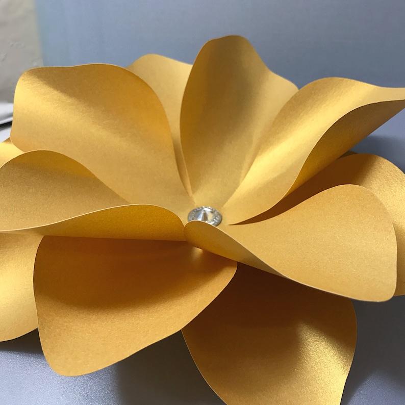 DIY Paper Flower Paper flower wall Small Paper Flower hard copy Template Ava Paper flower backdrop Easy paper flower