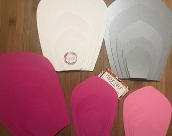 Paper Flower Template, DIY kit and Flower Center. Make your own paper flower complete kit | Giant paper flower DIY full kit with centers