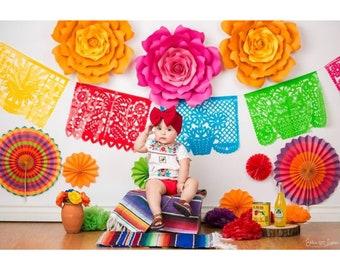 Fiesta Paper Flowers, cinco de Mayo, Easter decor, colorful paper flowers