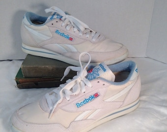 2ddb5976667d Vintage 1983 Reebok Energizer Classic Nylon and Suede Aerobic sneakers 80s  Reeboks