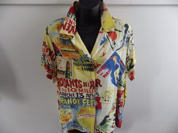 6e707952cf25e Vintage 80s Jams World Loud Hawaiian Shirt Made in USA Hawaii