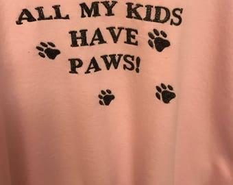 Embroidered Pink XL Sweatshirt.
