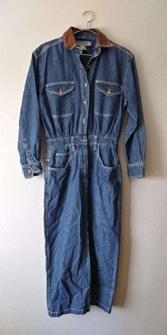 Vintage 1980s Bloomingdale's Denim Button Down  Dr