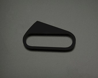 Geometric modern architectural BLACK STAR acrylic hand accessory styled as a knuckle multi finger ring in Small