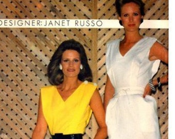 Butterick - Designer Janet Russo - #4963 - Misses' Dress - Size 12 - Cut but Complete
