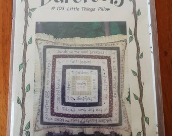 SNUG AS A BUG CANDLE MAT EMBROIDERY SEWING PATTERN From Bareroots Patterns NEW