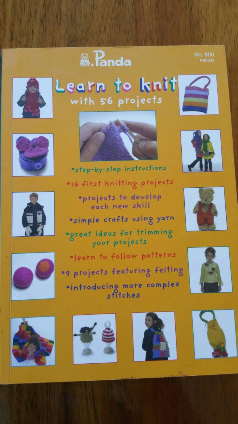 Panda Learn to knit with 56 Projects #800
