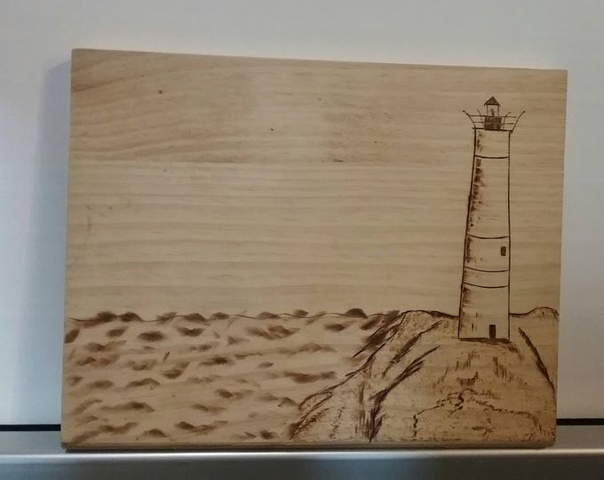 pyrography lighthouse