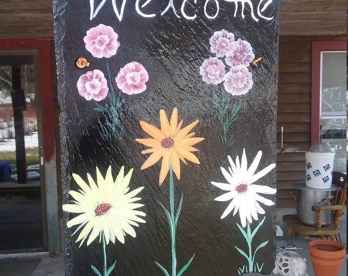 Hand painted welcome slates