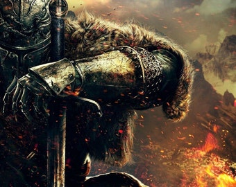 Dark Souls Art Poster High Quality Material Decoration Gift Fire Movie Warrior Poster