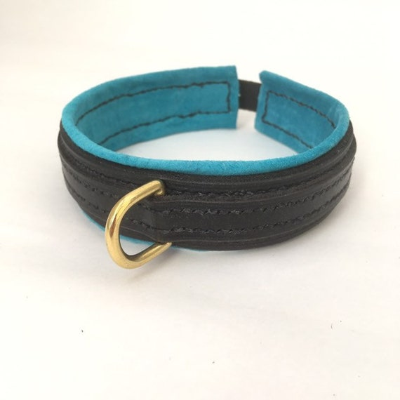 Slave Collar Leather Collar BDSM collar BDSM Italian leather and chromed steel collar Submissive Collar Pet Play Leather Bondage
