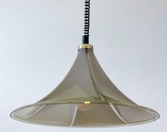 Meblo Guzzini Trumpet Light / Adjustable Space Age Pendant Lamp / Trumpet Ceiling Light / Mid Century Modern Pendant Lamp / 70s / Yugoslavia