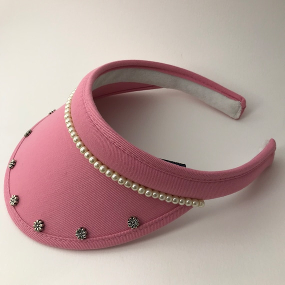 Ladies golf visor and clip-on visor handmade with bling and  3c905058cd4