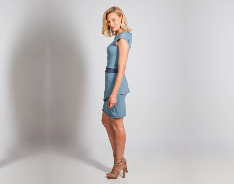 Dress Aurea Blue-Grey image 0