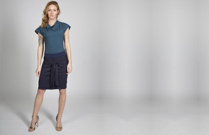 Jersey Dress Nele Dark Blue/Petrol image 0