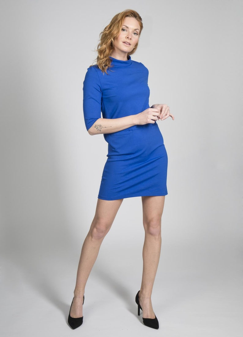 Stretch dress Skara in royal blue image 0
