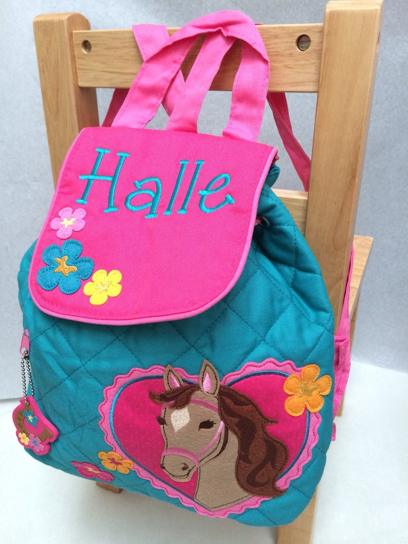 c598f6c5c748 Horse Backpack Personalised Backpack Girls Backpack Toddler