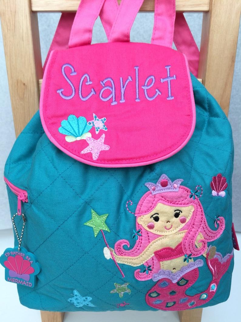 Stephen Joseph Mermaid Backpack Girls Rucksack Toddler Backpack Nursery Bag Girls backpack Personalised Backpack