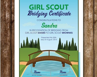 Girl Scout Bridging Certificate Printable