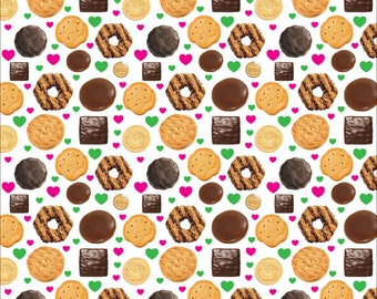 Girl Scout Cookie Seamless Digital Pattern Wallpaper ABC