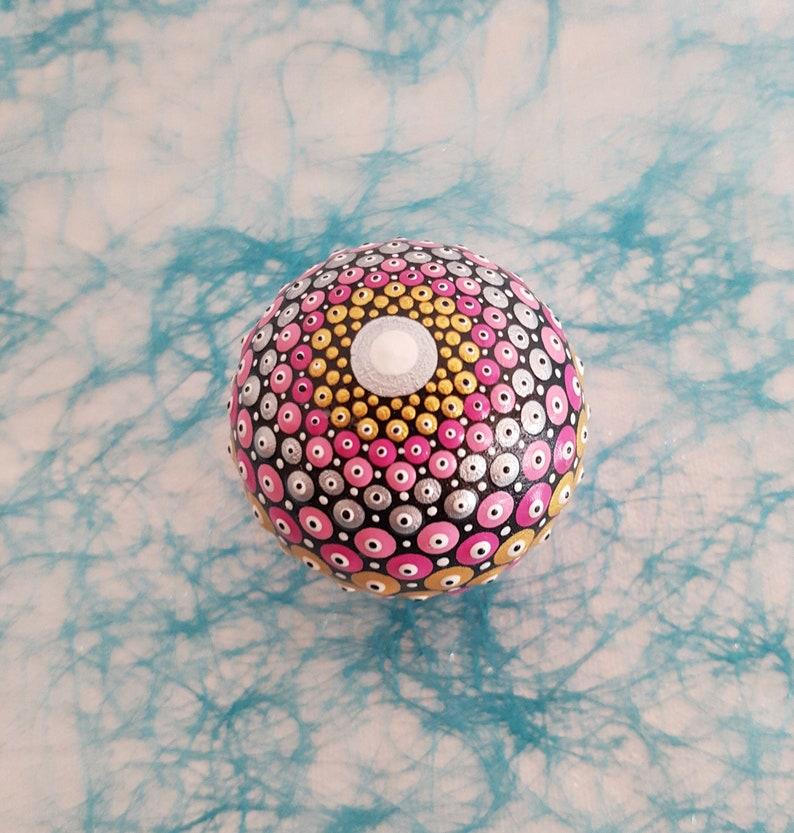 Mandala ball of woodWooden mandala sphere
