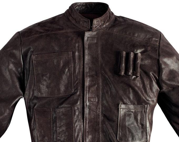 Han Solo Leather Jacket TFA 100% Handmade
