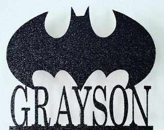 Batman Cake Topper with name