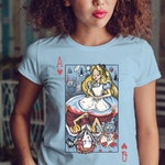 Alice in Wonderland / Queen of Hearts / White Rabbit / Heart / Disney Movie / Queen of Hearts / Cheshire Cat / Tea Party / Cute / Card