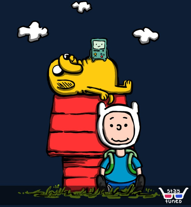 Unisexmens Peanuts Time Snoopy Charlie Brown Comics Adventure Time Jake And Finn Beemo Cartoon Best Friends Parody