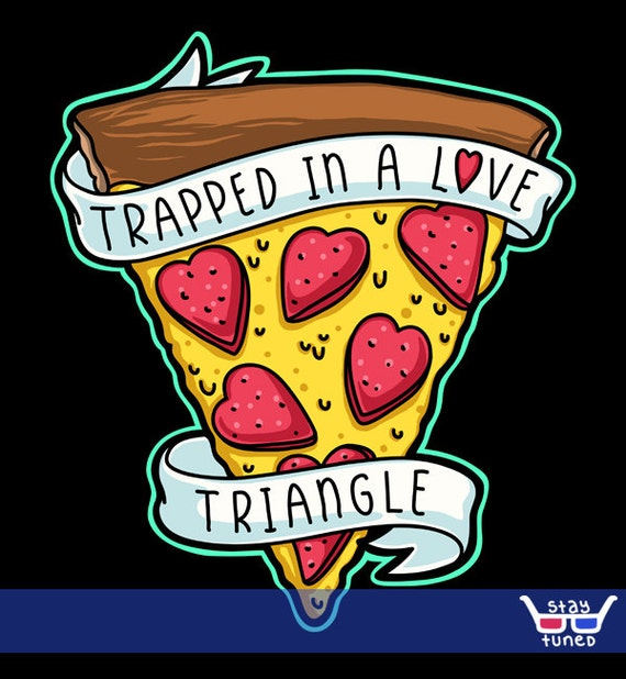 Unisex Mens Trapped In A Love Triangle Pizza Tattoo Art Etsy