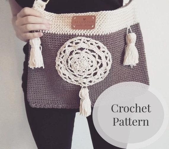 Crochet Bag Pattern Easy Boho Crochet Bag Boho Purse Etsy