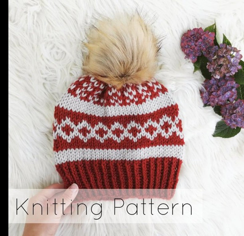 Easy Knitted Beanie Pattern  Beginner Knitting Pattern Easy  36dddfaada5