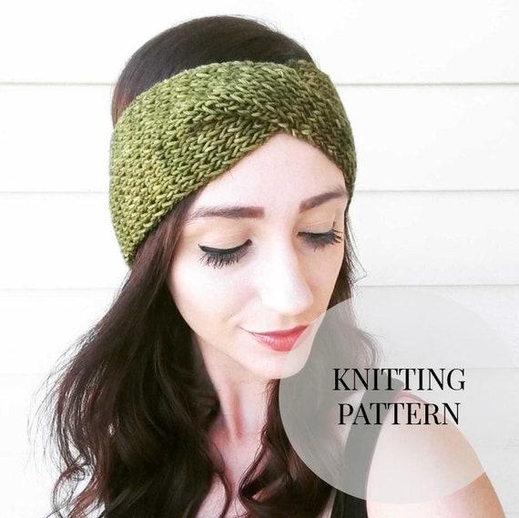 Knitted Headband Pattern Twisted Rib Headband Knitting Etsy Mesmerizing Knitted Headband Pattern