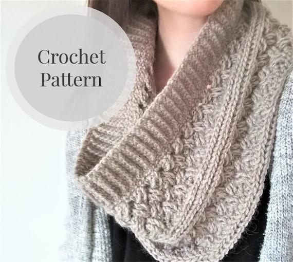 Cowl Crochet Pattern The Dublin Infinity Scarf Crochet Etsy