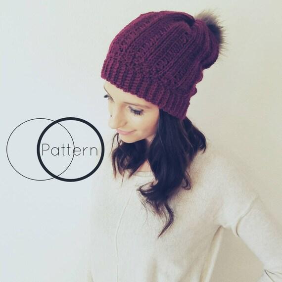 Crochet Hat Pattern/ Easy Crochet Beanie Pattern/Beginner | Etsy