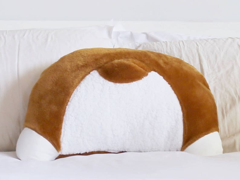 Corgi Butt Pillow w/Back Pocket  Corgi Booty Pillow  Back image 0