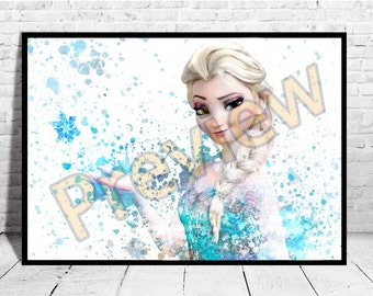 ONE PIECE POSTER A1 - A5 SIZES DISNEY FROZEN MOVIE OLAF WALL ART