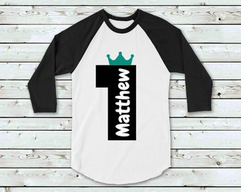 Personalised First Birthday Tee Shirt Boy Prince Party Outfit T 1st