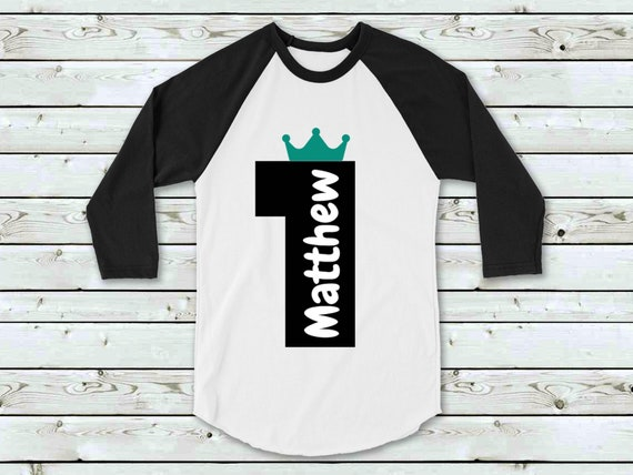 Personalised First Birthday Tee Shirt Boy Prince