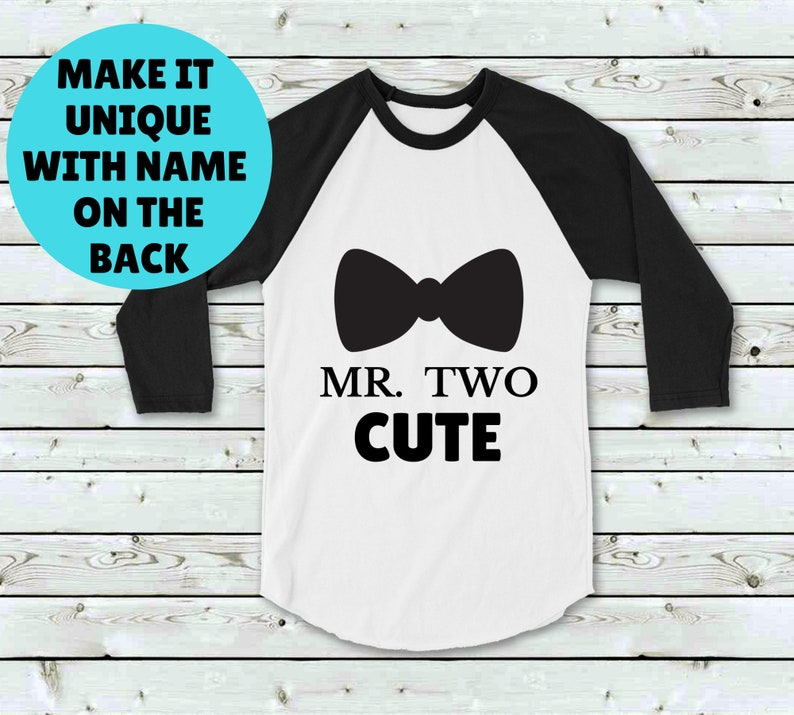 b31340a70 Personalised Second Birthday Boy Tee Shirt Two Cute Shirt | Etsy
