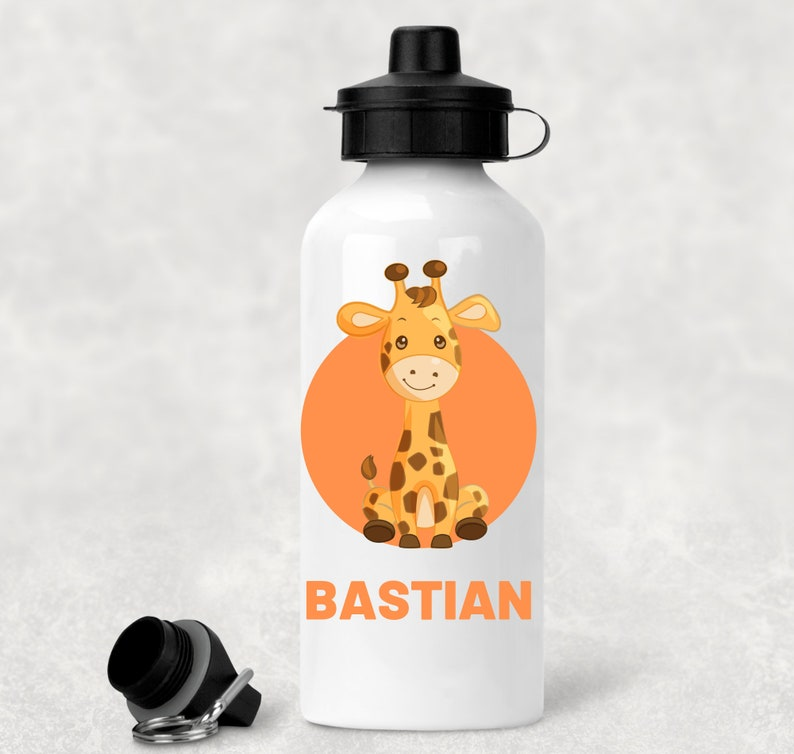 Personalised Water Bottle Any Photo Design or Text School Sports Gym Football