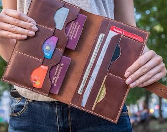 d25398dea528 Large Leather double Passport Holder